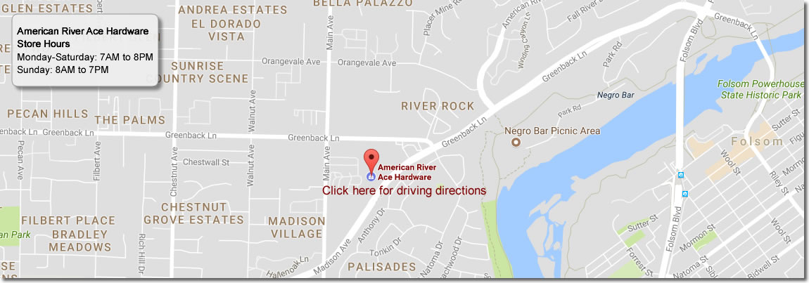 American River Ace Hardware store location
